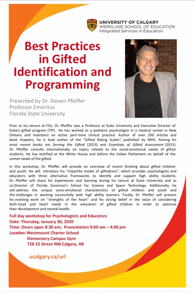 University of Calgary Gifted Identification and Programming