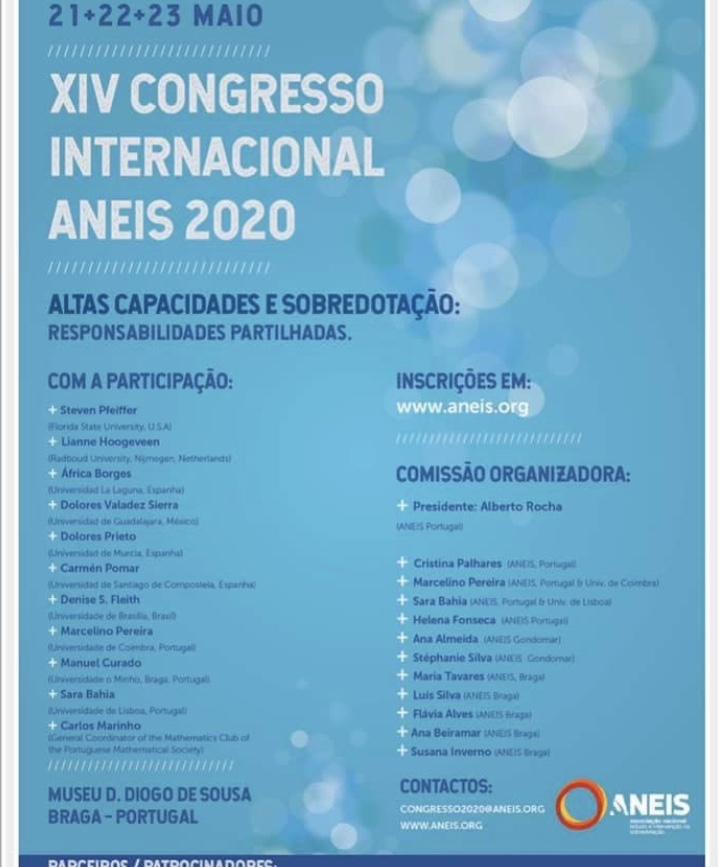 International Congress High Capabilities and Giftedness: Shared Responsibilities Portugal 2020